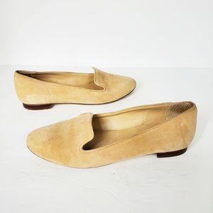 J Crew Cleo suede beige loafers smoking flats 7.5